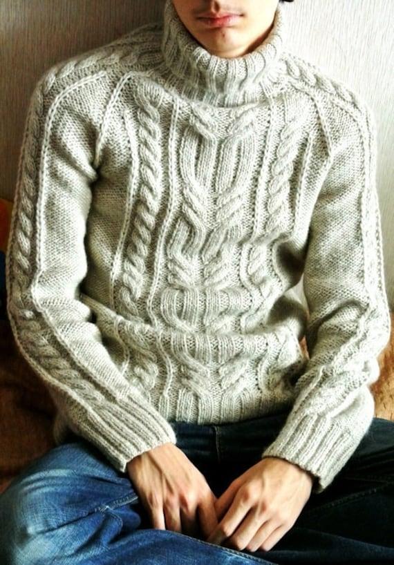 0e3aa44dcc0061 Wool sweaters for men Aran sweater Mens sweaters Knit