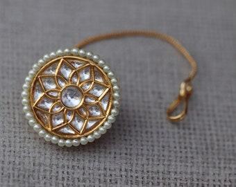 2ea6bde9b6f114 Jadau Kundan Borla/ Maang tikka/ Borla tikka/ Indian Jewelry/ Indian  wedding jewelry/ Indian tikka/ Pakistani Jewelry/ Bollywood Jewelry