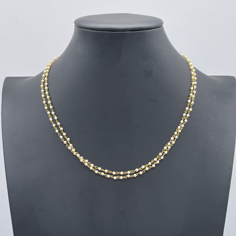 Bollywood Gold Necklace Indian Necklace Pearl Necklace Pearl jewelry|Indian jewelry Dainty Jewelry