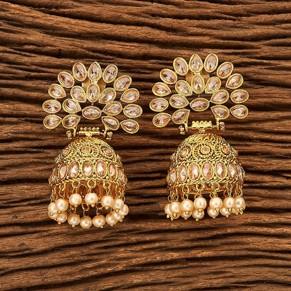 Indian jewelry, Brass earring handmade earring Jesper stone earring crystal earrings wedding earrings Indian earring unique earring