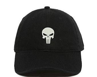 e0257d4b7 Skull baseball cap | Etsy