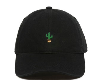 Mens Prickly Pear and Cactus Flat Baseball Hat Classic Trucker Hat for Unisex