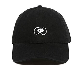 fa4cbd2f DSGN By DNA Goofy Silly Eyeballs Baseball Cap Embroidered Cotton Adjustable  Dad Hat
