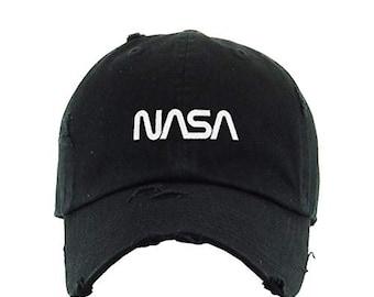 NASA Retro Logo Vintage0 Mens Classics Cap Women Fashion Hat Cowboy