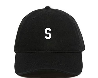 21dddb8fb75ad DSGN By DNA S Initial Letter Baseball Cap Embroidered Cotton Adjustable Dad  Hat