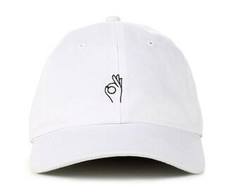 1272c3ee87d8f A OK Hand Emoji Baseball Cap