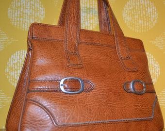 9bd47736d573a True Vintage Tasche Kunstleder Veggie Purse Used Retro Mid Century Orange    Braun 70er Jahre