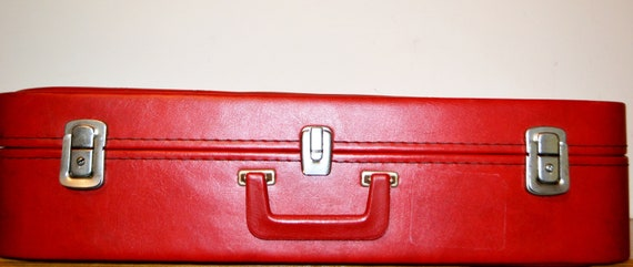 Vintage Suitcase Red 70s