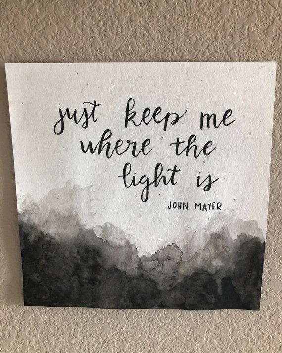 John Mayer Watercolor Painting