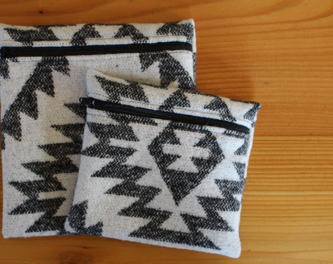 Upcyled Reusable Bag - CLASSIC BLACK + WHITE