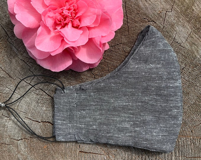 Reusable Face Mask - Linen - Charcoal