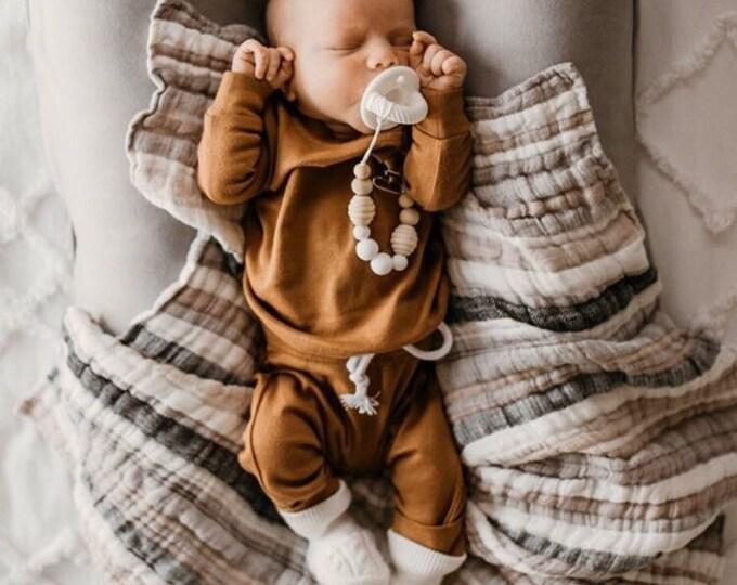 Baby Blanket - Linen - Cotton - Ramie - Natural - Ecofriendly - Newborn - Swaddle Blanket - Crib Blanket