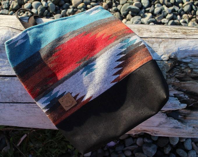 West Coast Tote - Aztec Bag - Tote - Upcycled - Cork - Navajo - Market Bag - BYOB - Beach Bag
