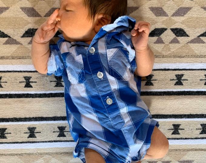 Baby Blanket - MOUNTAIN TOPS- Navajo - Newborn - Baby - Car seat blanket - Stroller Blanket - Aztec