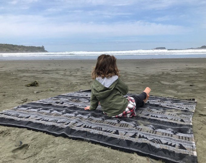 Tofino Beach Blanket - THE COASTAL -  Boho - Aztec - Navajo - Camping Blanket - Throw Blanket - Yoga Blanket - Blanket Scarf - Southwest