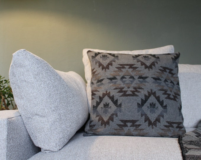 Aztec Pillow Cover - GREY AZTEC