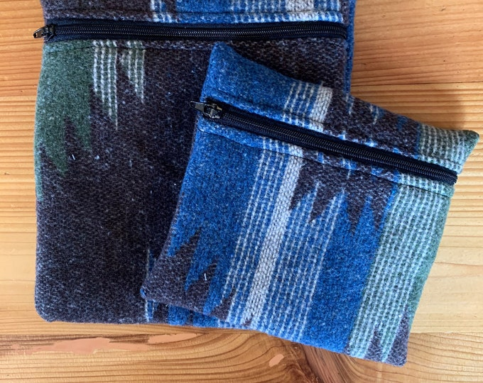 Upcyled Reusable Bag - Aztec - Navajo - Snack Bag - Waterproof - Zero Waste - Sandwich Bag