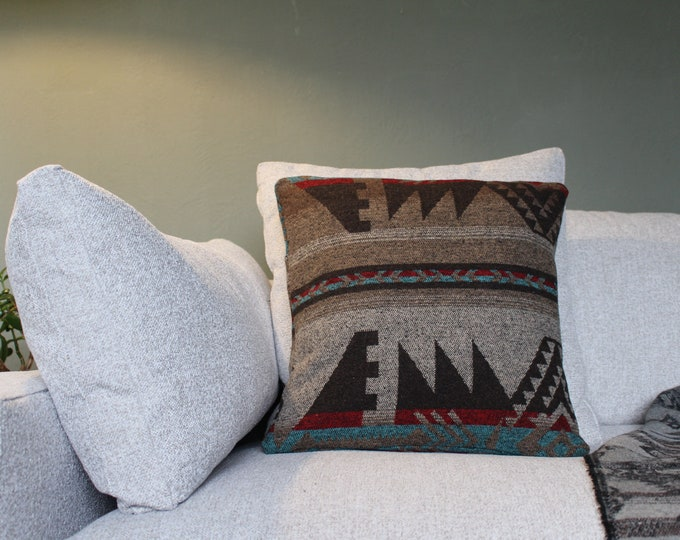Aztec Pillow Cover - RUSTIC