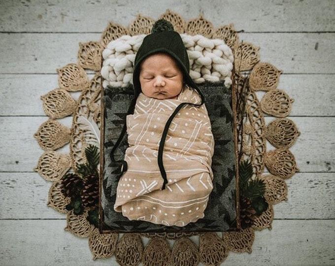 Baby Blanket - Gray Aztec- Navajo - Newborn - Baby - Car seat blanket - Stroller Blanket