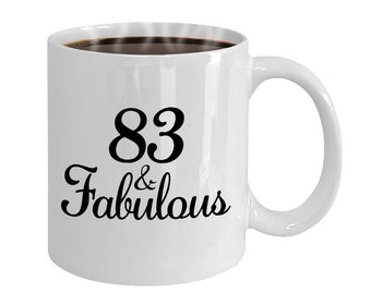 83 And Fabulous Since 1935 Mug At 83rd Birthday Ideas Year Old Gifts For Women Funny Coffee Cup Yr