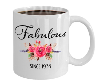 85th Birthday Ideas 85 Year Old Woman Gifts For Women Her Fabulous Since 1933 Mug Yr