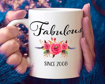 11th Birthday Ideas 11 Year Old Woman Gifts For Women Her Fabulous Since 2008 Mug Yr Girl