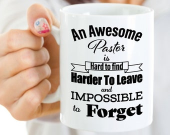 Retirement Gift For Pastor, Appreciation Gifts For Pastor, An Awesome Pastor Is Hard To Find, Thank You Gift, Pastor Gift Ideas,Pastor Gifts