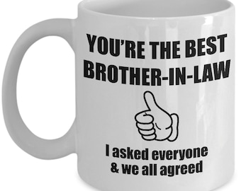 Brother In Law Mug Gift For Christmas Birthday Funny Present