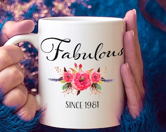 38th Birthday Ideas 38 Year Old Woman Gifts For Women Her Fabulous Since 1981 Mug Yr