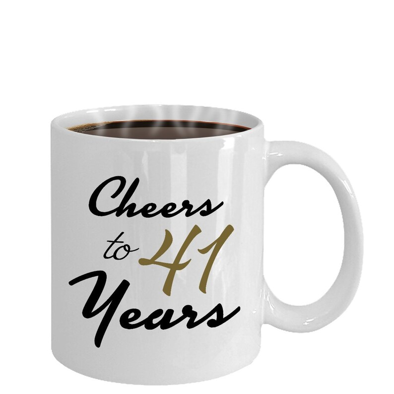 Cheers To 41 Years 41st Birthday Gift For Her
