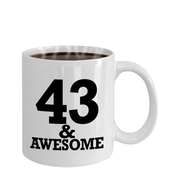 43rd Birthday Gift For Him Happy 43 Birthday 43 Year Old