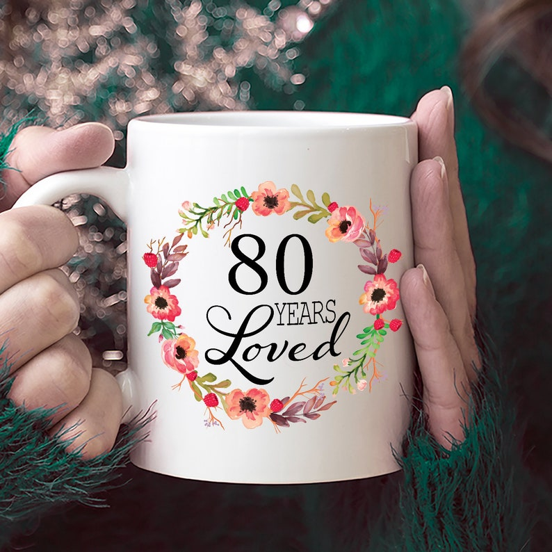 80th Birthday Gifts For Women Gift 80 Year Old Female