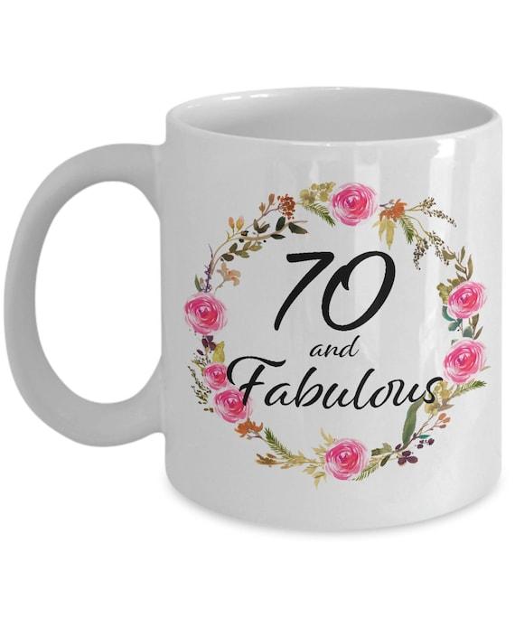 70 And Fabulous Coffee Cup 70th Birthday Mug Christmas Etsy