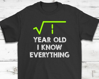 1 Year Old I Know Everything Awesome Birthday T Shirt Gift
