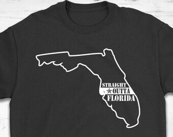9f27c17a8 Straight Outta Florida T-Shirt Gift - Unisex Shirt