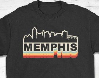04240c495026ef Memphis Skyline Vintage Retro T-Shirt Gift - Memphis Tennessee - Unisex  Shirt