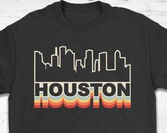 09ee2d1b Houston Skyline Rainbow Style T-Shirt Gift - Houston Texas - Unisex Shirt