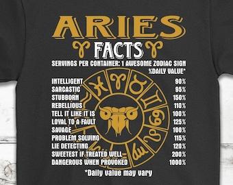 4d5cefc1 Aries Facts Daily Value Horoscope Birthday T-Shirt Gift - Aries Zodiac  Birthday Tee Shirt - Unisex Shirt