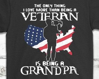 c37420cd Awesome Veteran Grandpa T-Shirt Gift - Veteran's Day Gift - Independence Day  Gift - USA Army, Navy, Marine Veteran Gift - Unisex Shirt