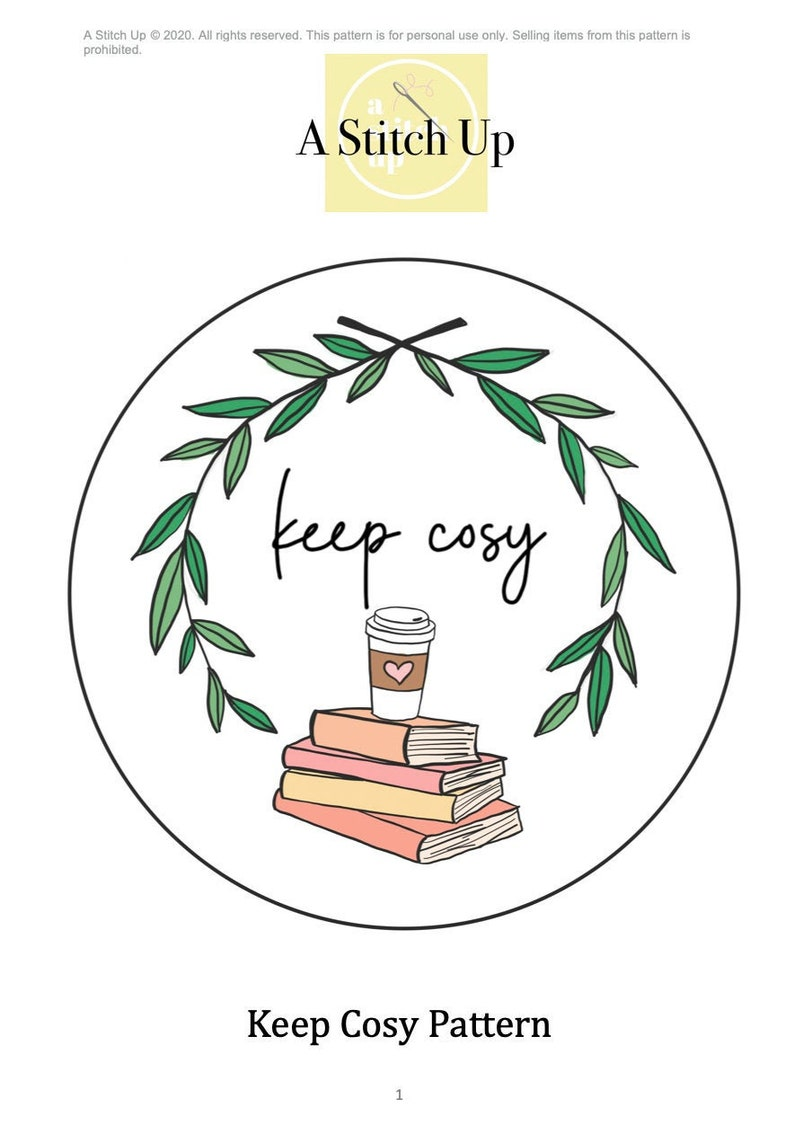 Keep Cosy Express Pattern Template image 0