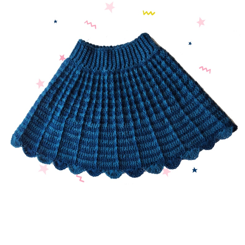 Cute Crochet Faux Pleated Skirt Pattern for Baby Toddler and image 0