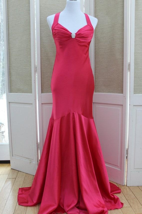 Vintage 90's Cache Prom Dress, Long Vintage Prom D