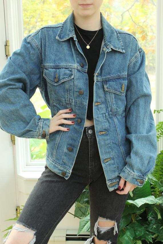Vintage Faded Blue Denim Jacket, Vintage Denim Fad