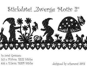 Embroidery file Shear Cut: dwarfs, motif 2