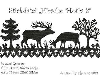 Embroidery file Shear Cut: deer, motif 2