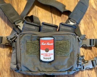 Soup Is Good Food PVC Morale Patch