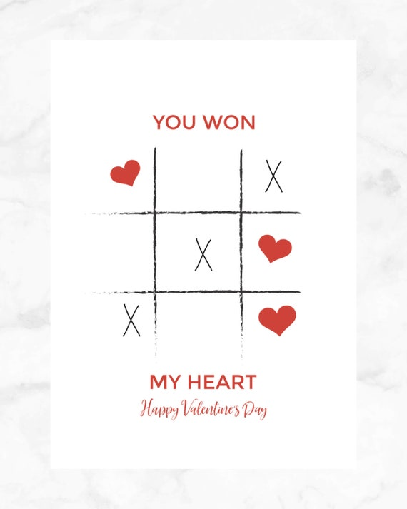 graphic about Tic Tac Toe Valentine Printable called Oneself Gained My Center Valentine Card, Amusing Valentine Playing cards, Tic Tac Toe Valentine Printable Valentines, Immediate Obtain