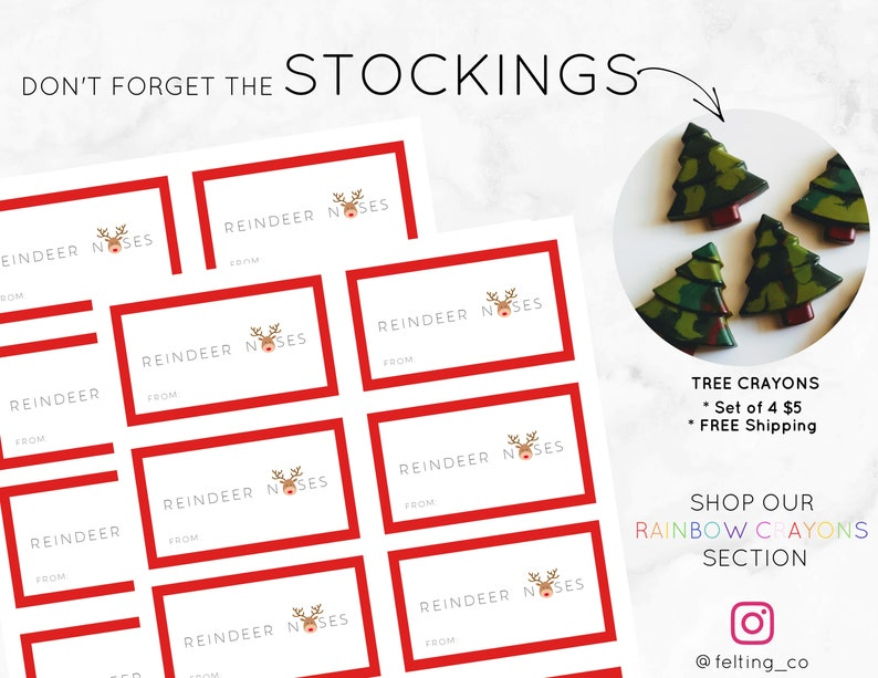 photograph about Reindeer Noses Printable known as Reindeer Noses Labels- Xmas Tags- Printable Xmas labels, Xmas Get together favors, Instantaneous Obtain