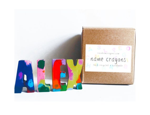 Crayon name set Kids Easter gift Personalized Rainbow Name Crayons Kid party favors Birthday gift