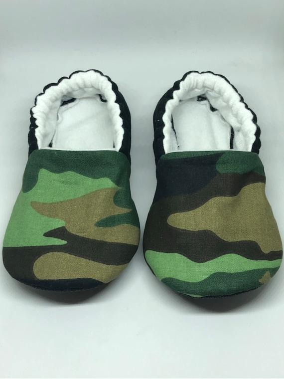 Camo Moccs soft sole shoes baby shoes